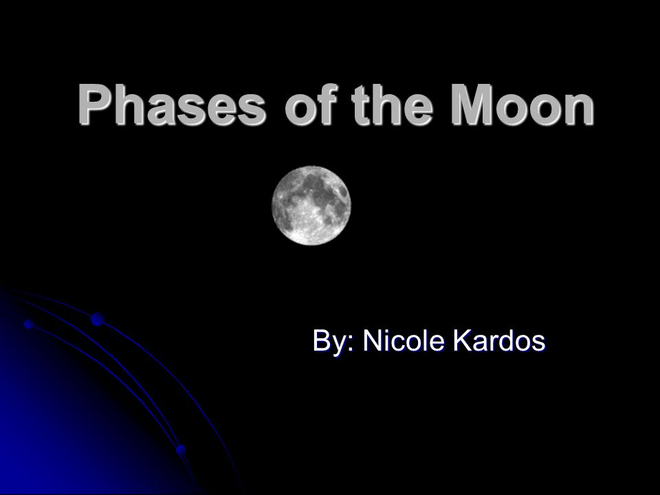 Phases of the Moon By: Nicole Kardos