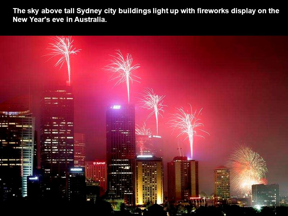 Fireworks erupt over the Sydney Harbour Bridge during the Australian city's New Year's celebration.