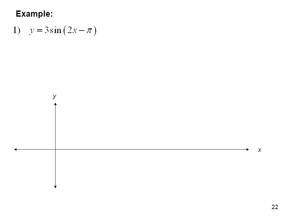 22 Example: x y