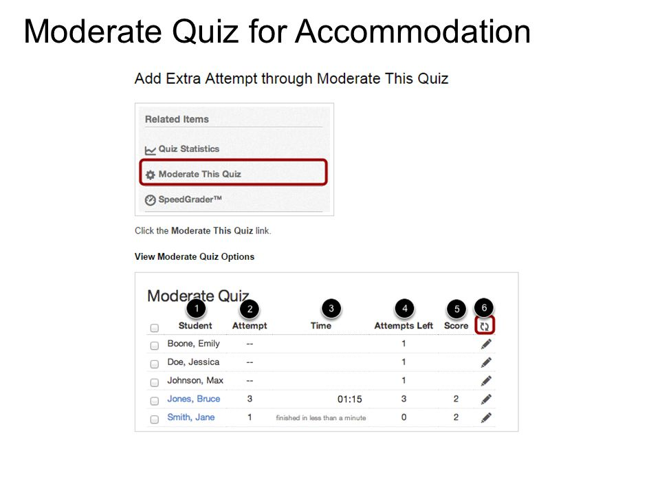 Moderate Quiz for Accommodation