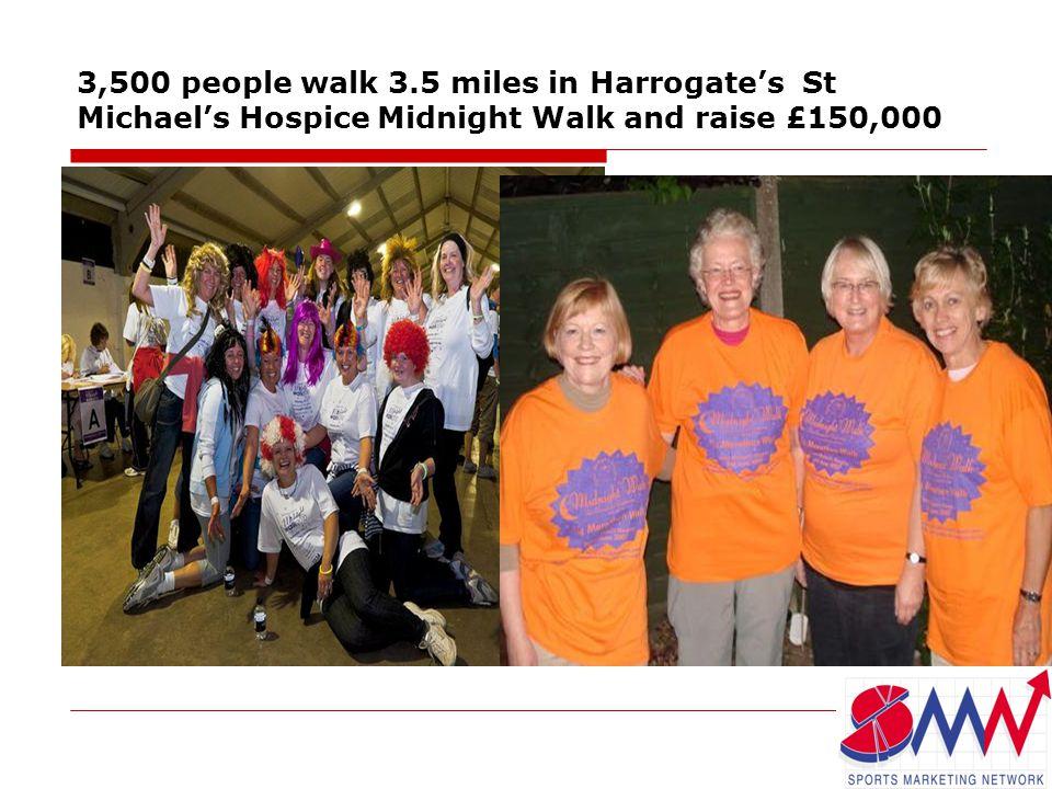 3,500 people walk 3.5 miles in Harrogate's St Michael's Hospice Midnight Walk and raise £150,000