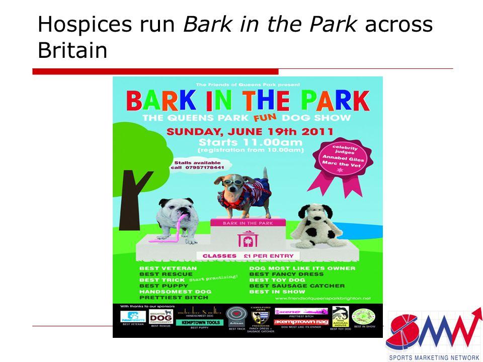 Hospices run Bark in the Park across Britain