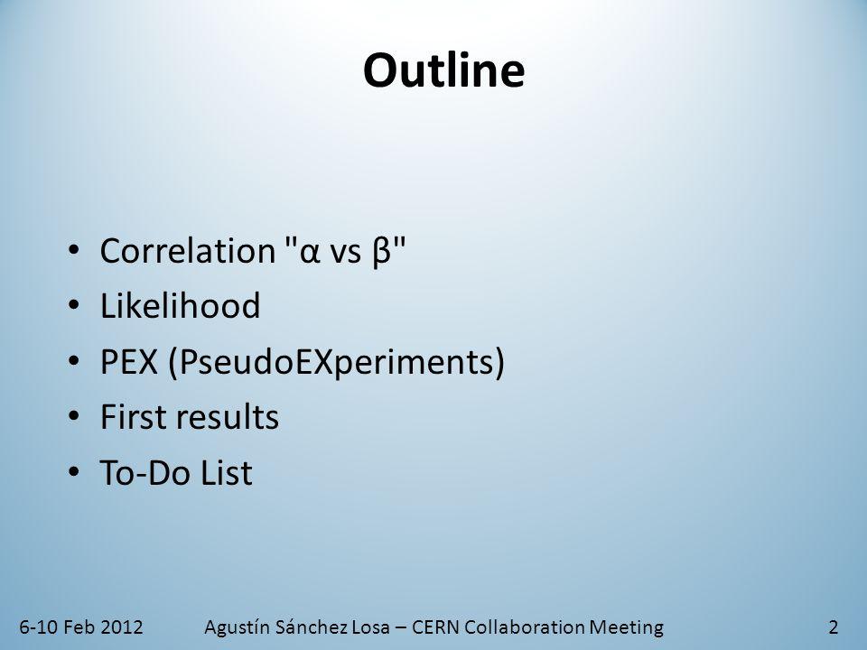 6-10 Feb 2012Agustín Sánchez Losa – CERN Collaboration Meeting13  nsig 0: 4.1  nsig 1: 51.4  nsig 2: 83.9  nsig 3: 95.9  nsig 4: 98.9  nsig 5: 99.8 % events above 2σ Q distribution  Q = 1.20 2σ Threshold β 1 st Aprox.