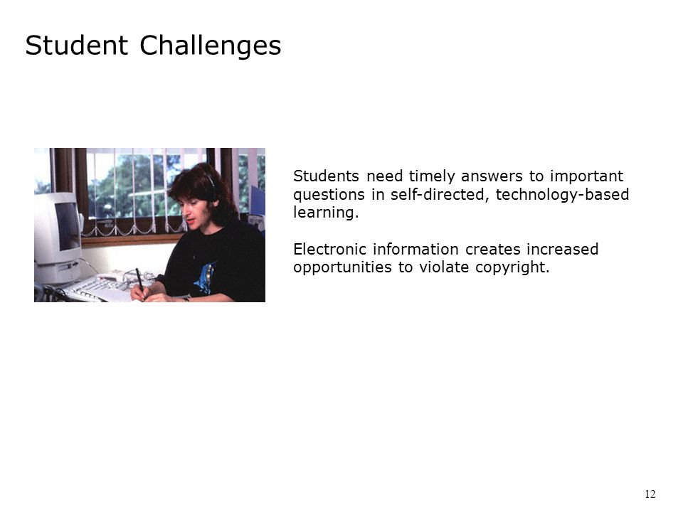 Students need timely answers to important questions in self-directed, technology-based learning.