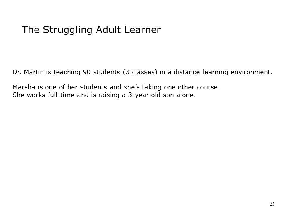 The Struggling Adult Learner Dr.