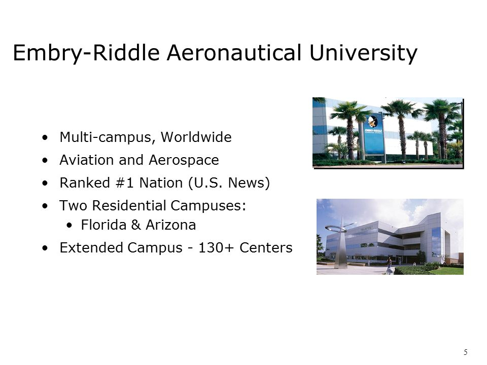 Multi-campus, Worldwide Aviation and Aerospace Ranked #1 Nation (U.S.