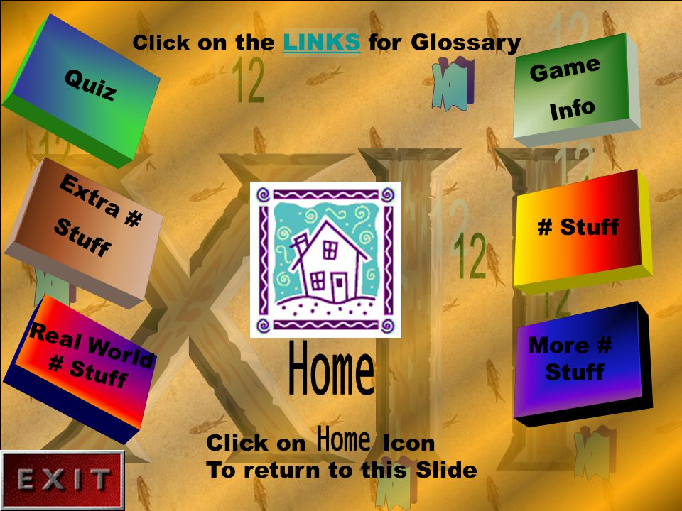 Dimensions Which of these is a Dimension of 12? Click on a Table