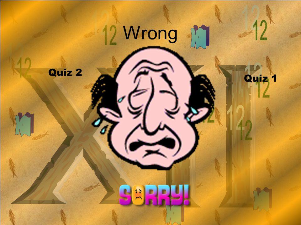 Wrong Quiz 2 Quiz 1