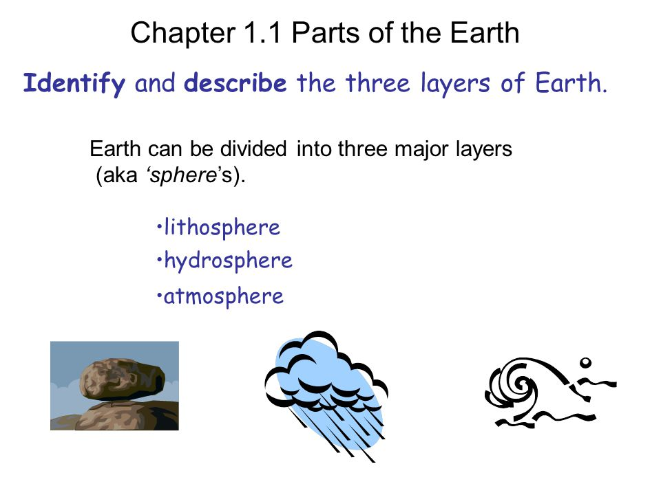 Identify and describe the three layers of Earth.