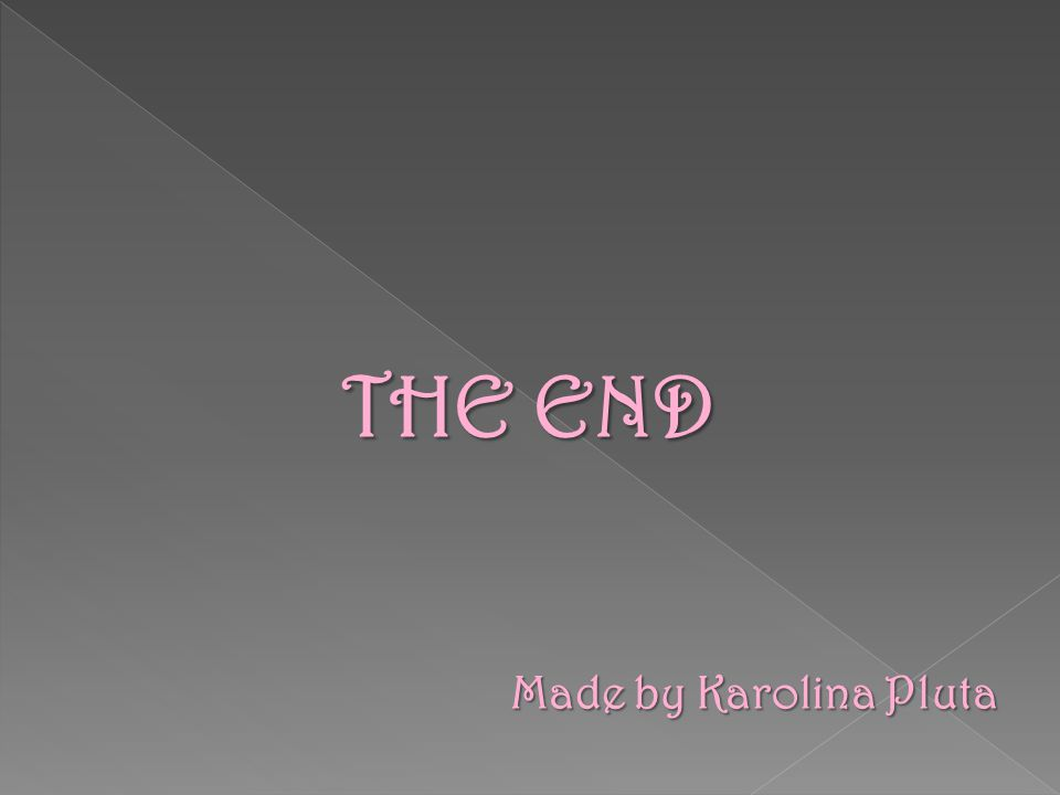 THE END Made by Karolina Pluta