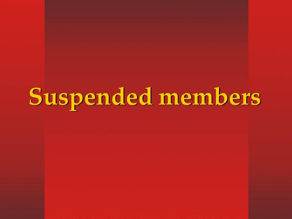 Suspended members