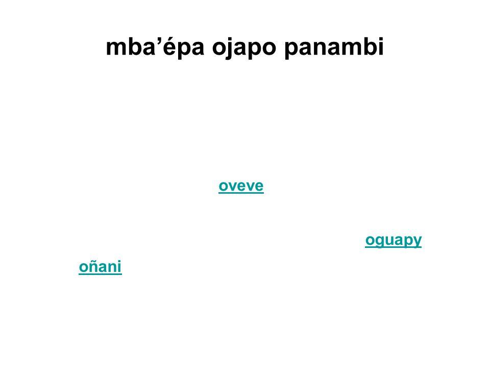 mba'épa ojapo panambi oñani oveve oguapy