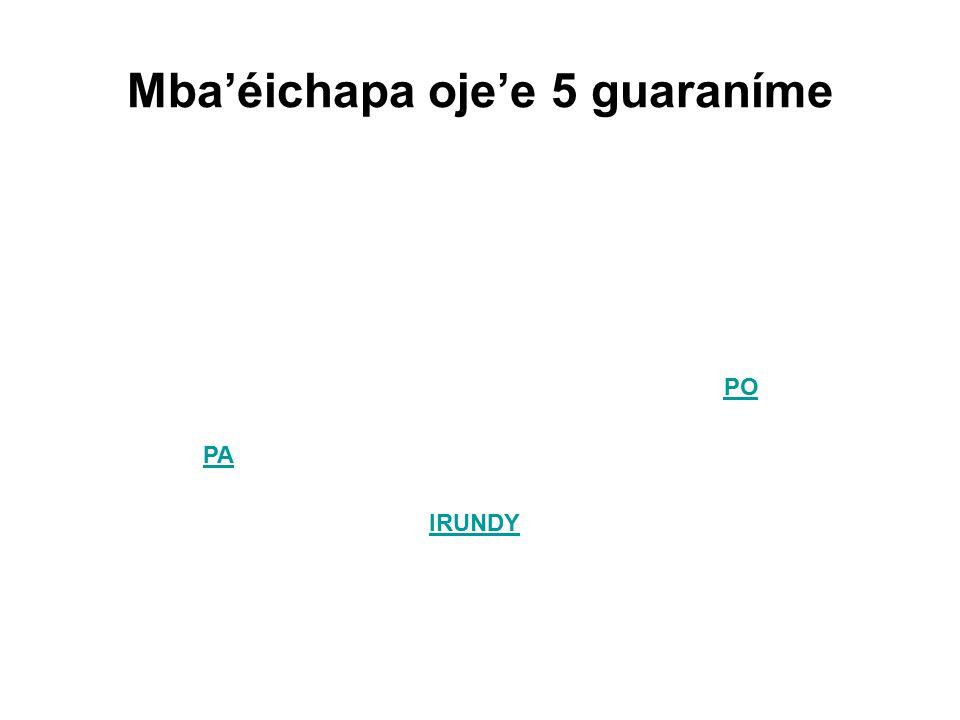 Mba'éichapa oje'e 5 guaraníme PA IRUNDY PO