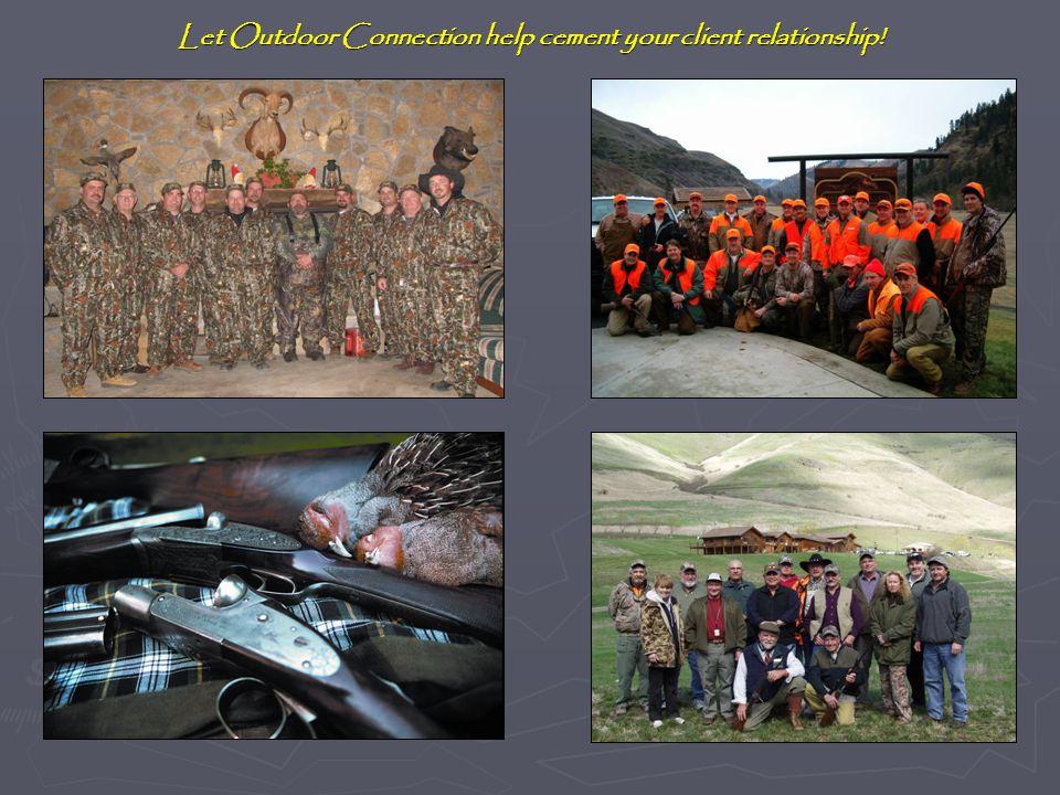 Contact Information Steve Ellenson Coon Rapids, MN 763-464-0690 Midnight@Outdoor-Connection.com Frank Calta Minnetonka, MN 612-817-0365 Frank@Outdoor-Connection.com www.HuntandFishWorldwide.com