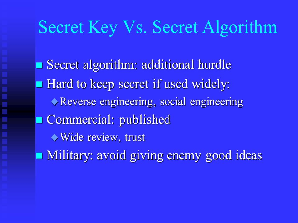 Secret Key Vs.
