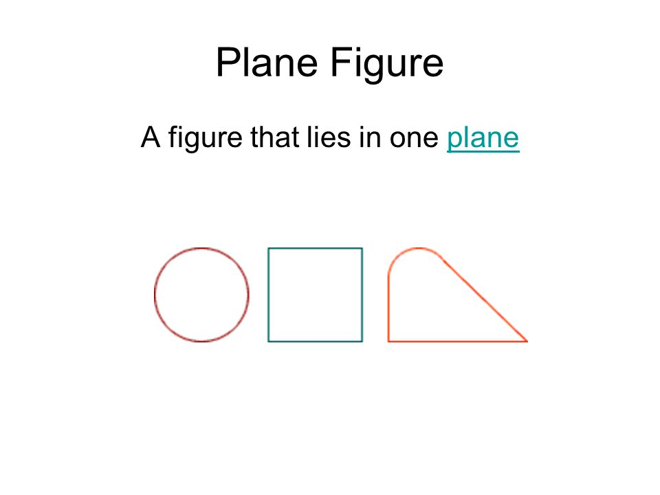 Plane Figure A figure that lies in one planeplane