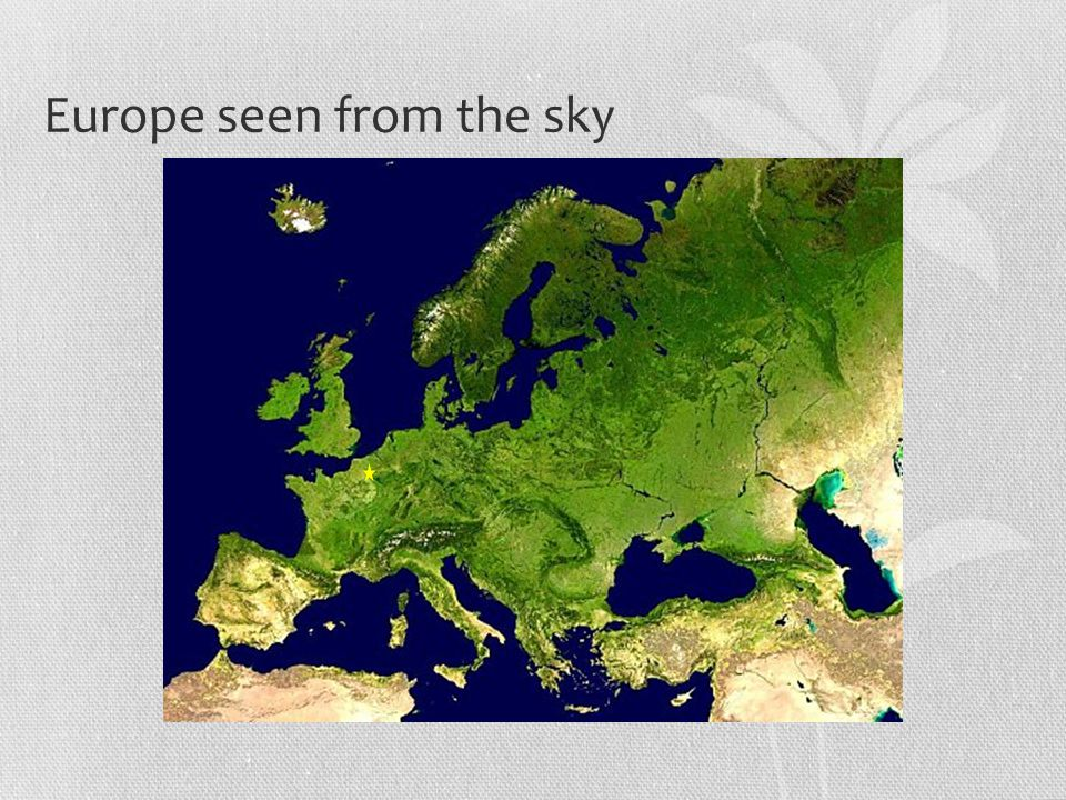 Europe seen from the sky