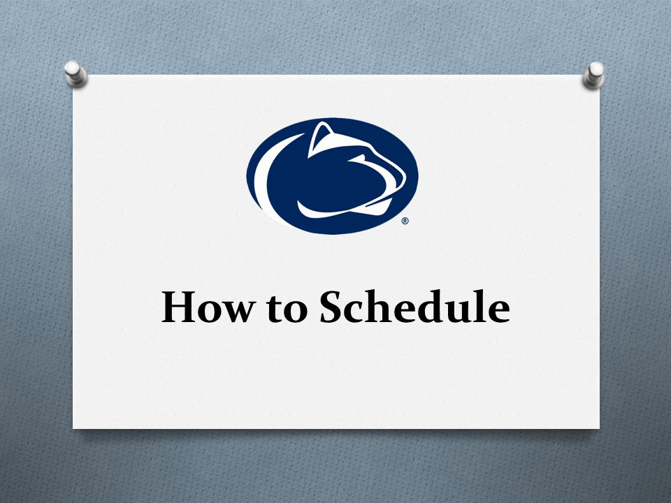 How to Schedule