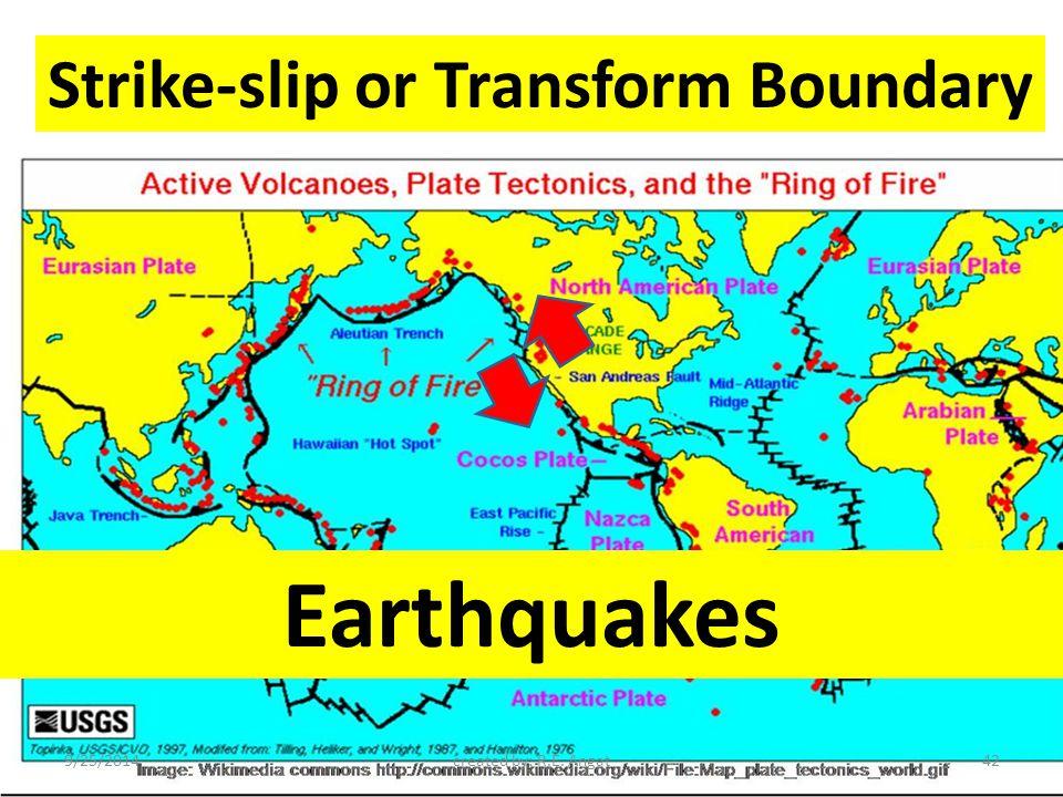 Strike-slip or Transform Boundary Earthquakes 9/25/2014created by: R.E. Angat42