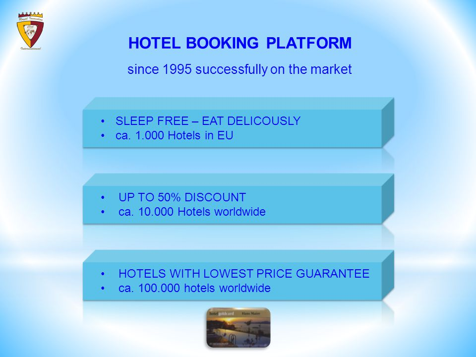 SLEEP FREE – EAT DELICOUSLY ca. 1.000 Hotels in EU UP TO 50% DISCOUNT ca.