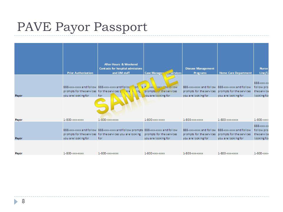 PAVE Payor Passport 8