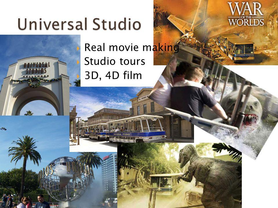  Real movie making  Studio tours  3D, 4D film