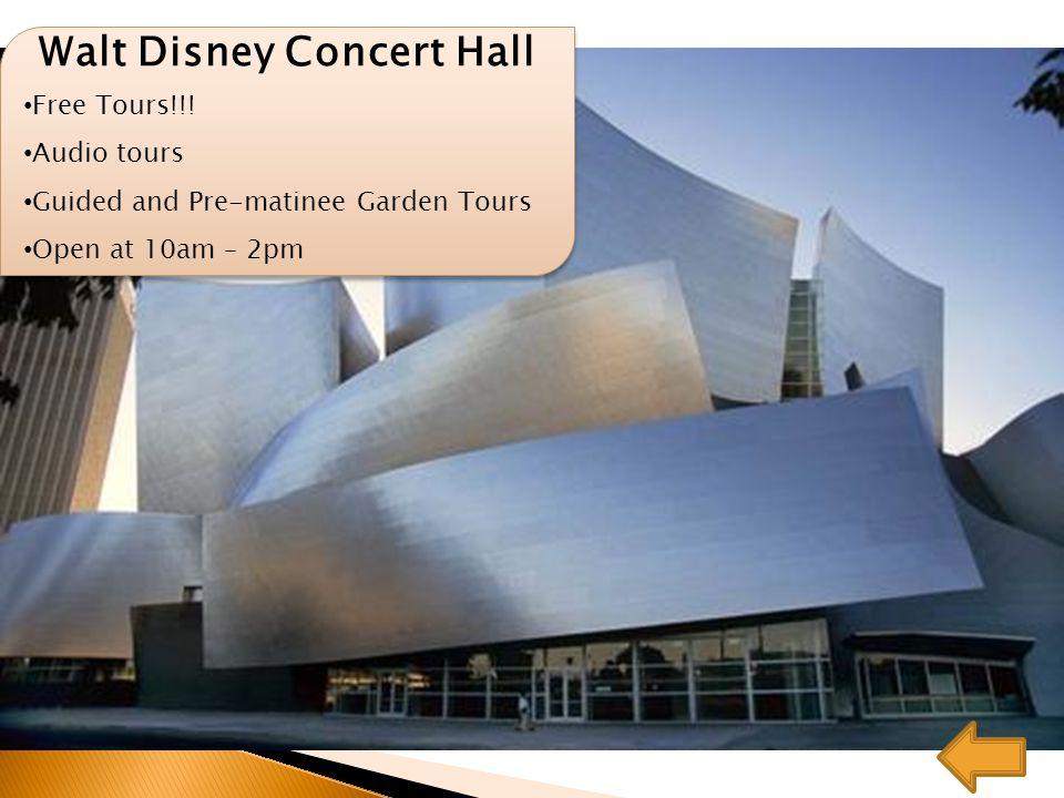 Walt Disney Concert Hall Free Tours!!.