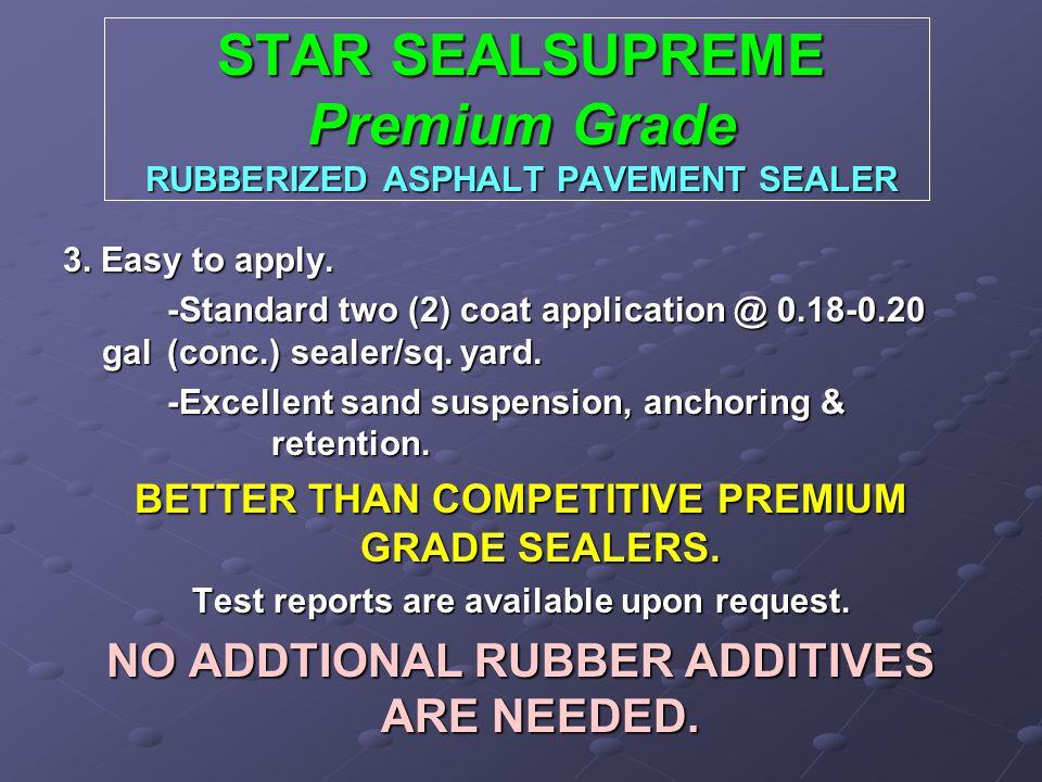STAR SEALSUPREME Premium Grade RUBBERIZED ASPHALT PAVEMENT SEALER 3.