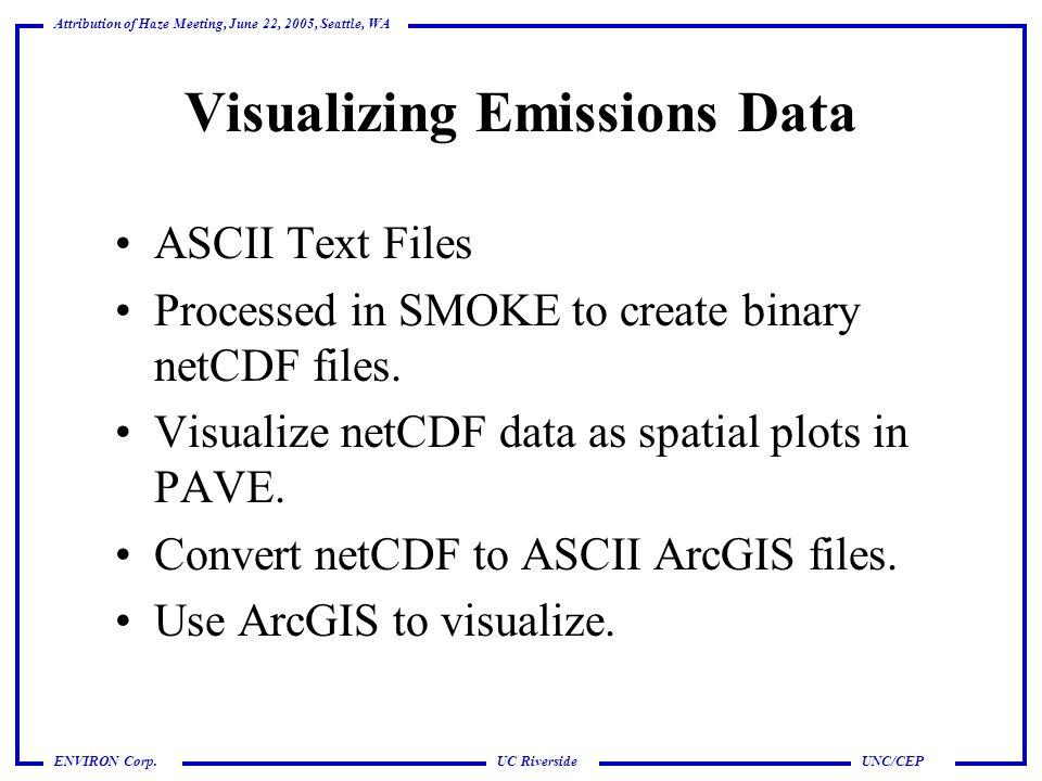UC Riverside Attribution of Haze Meeting, June 22, 2005, Seattle, WA UNC/CEPENVIRON Corp.