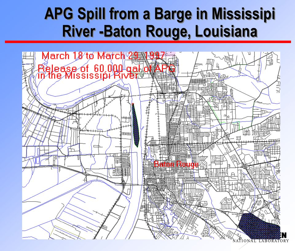 APG Spill from a Barge in Mississipi River -Baton Rouge, Louisiana