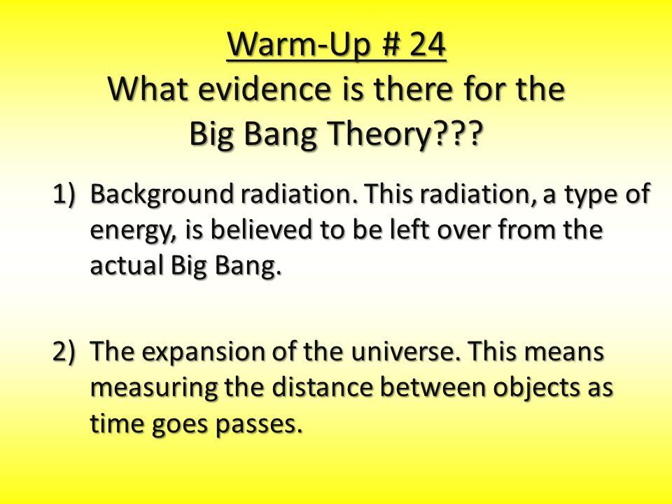 1)Background radiation.