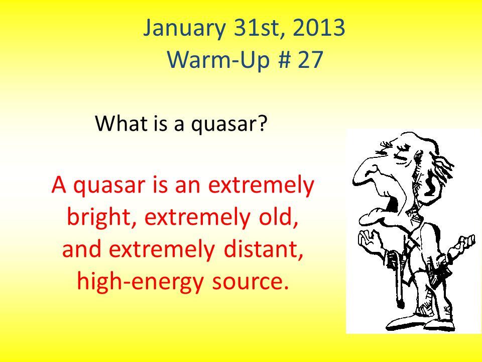 What is a quasar.