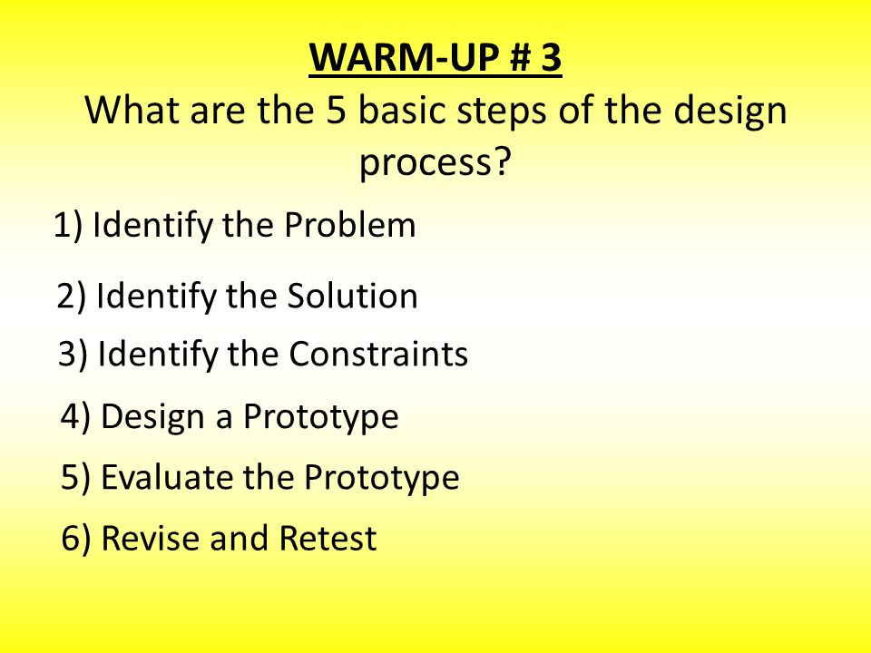 Warm-Up # 4 What is a constraint.