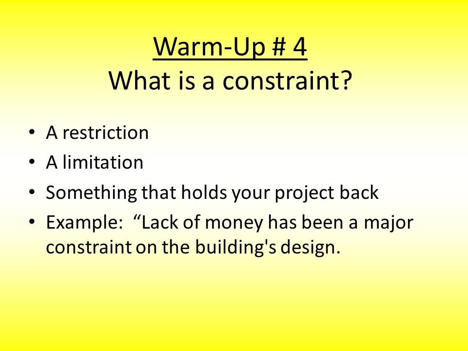 Warm-Up # 5 – What is a prototype.