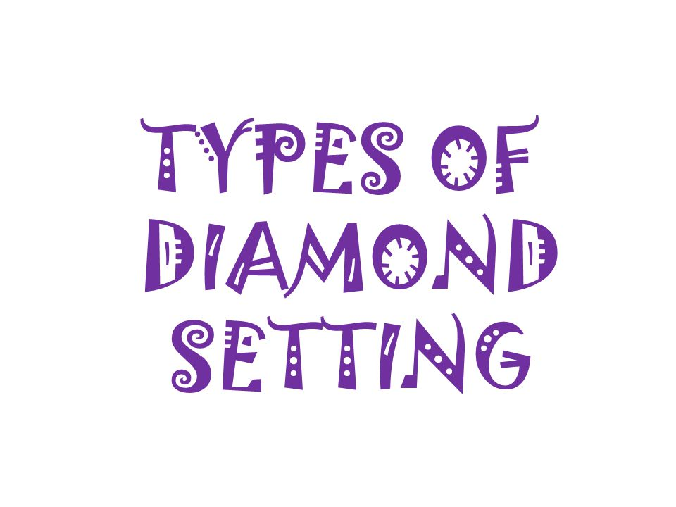 TYPES OF DIAMOND SETTING