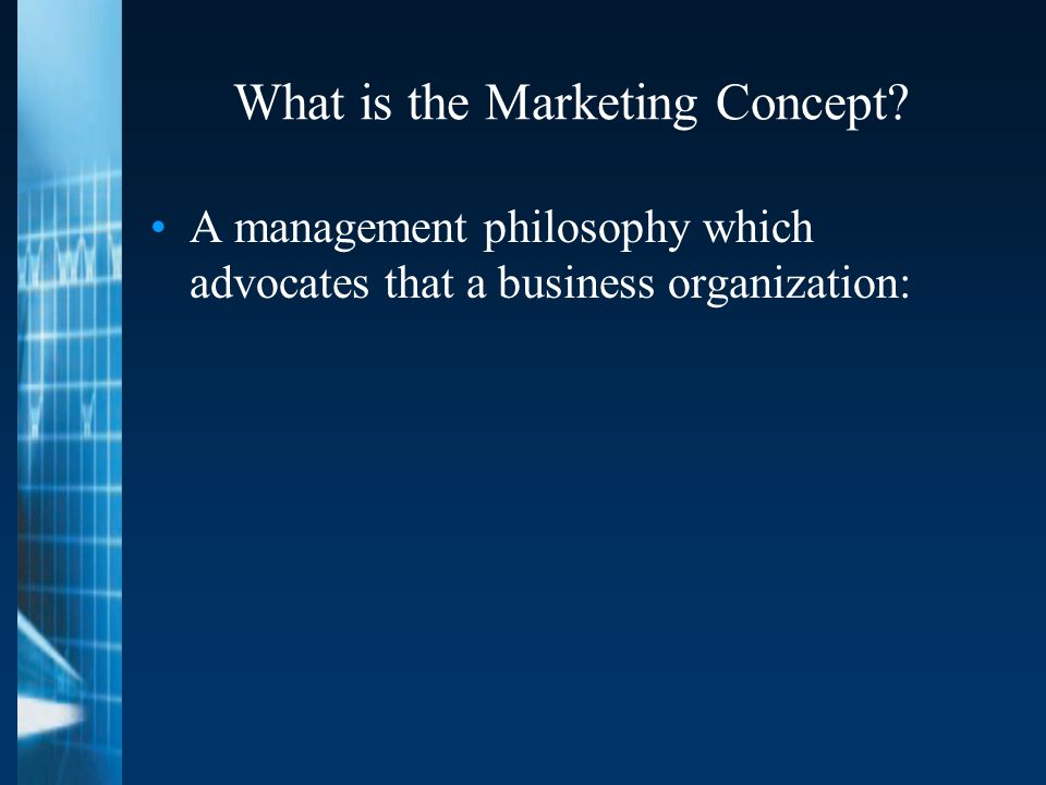 What is the Marketing Concept.
