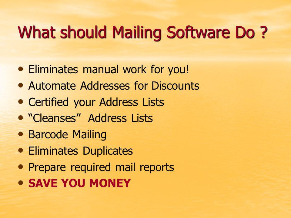 Sample Formatted Address List
