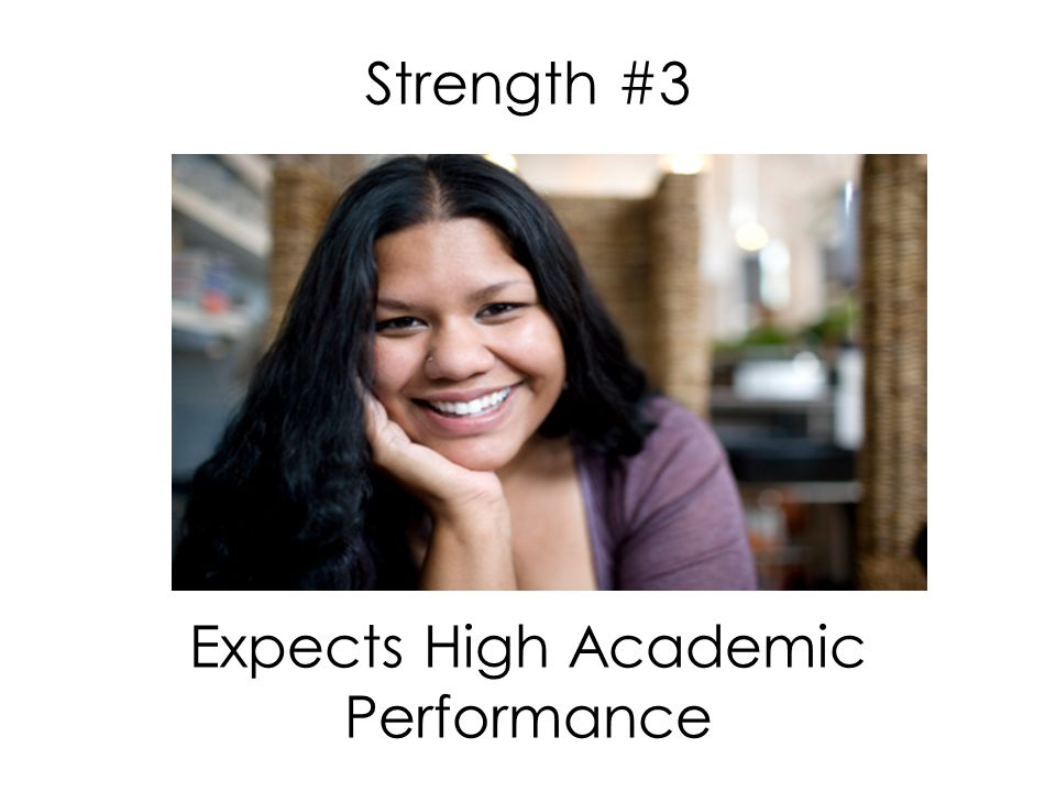 Strength #3 Expects High Academic Performance