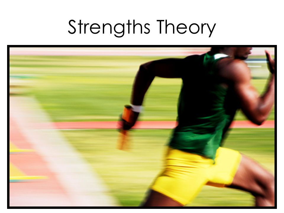 Strengths Theory The Gallup Organization's Strengthfinder Looking at students from a positive standpoint, rather than simply a deficit standpoint Studies on first-generation students often come from a negative standpoint.