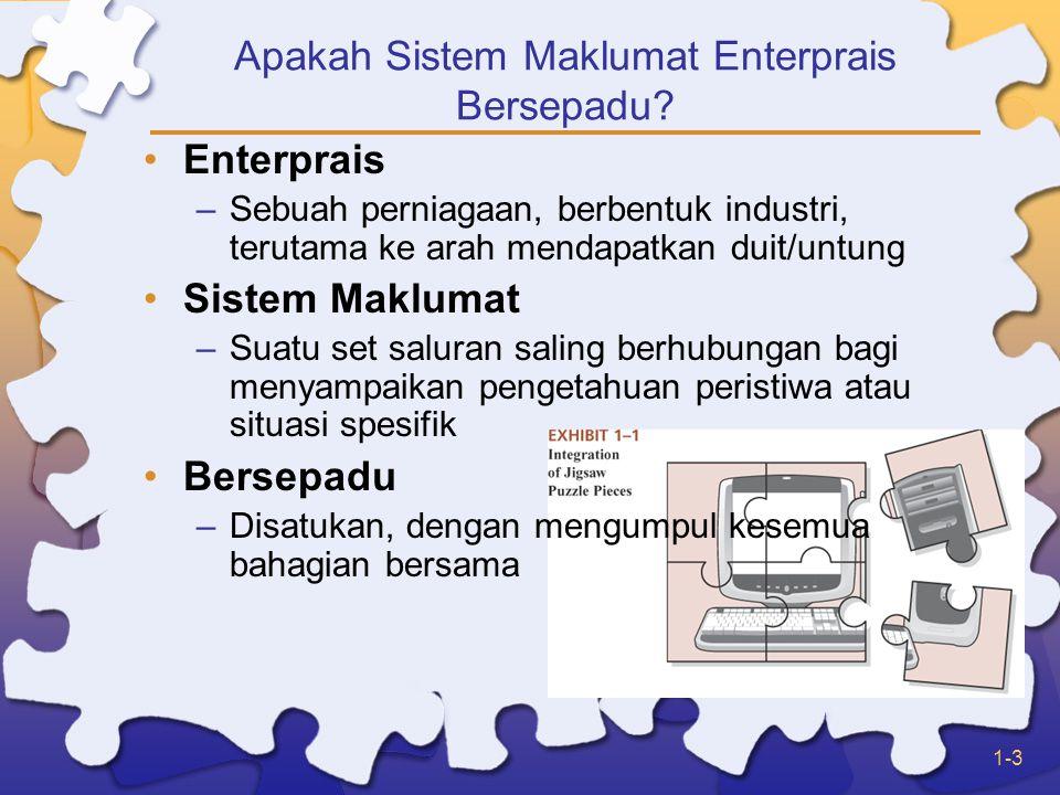 1-3 Apakah Sistem Maklumat Enterprais Bersepadu.