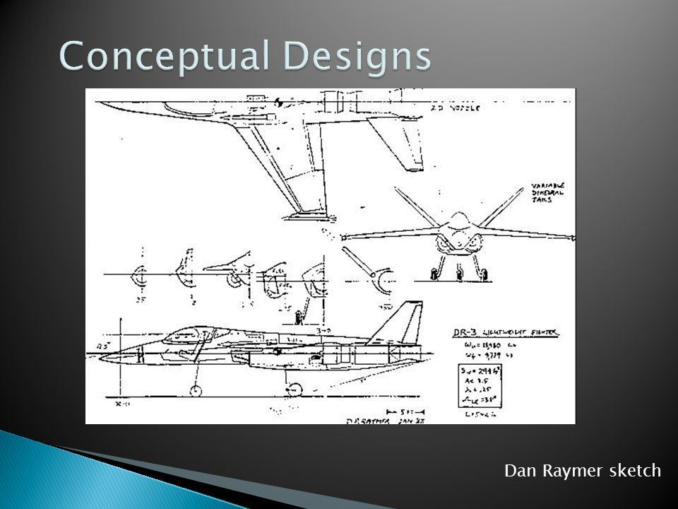  What will it do?  How will it do it?  What is the general arrangement of parts?  The end result of conceptual design is an artist's or engineer's