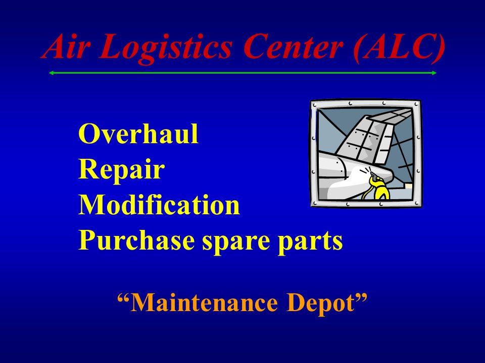 WARNER ROBINS ALC OGDEN ALC OKLAHOMA CITY ALC Air Logistics Centers $2.9 Billion $5.0 Billion $4.3 Billion