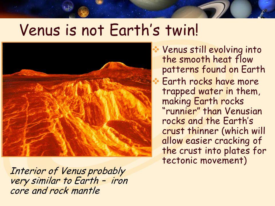 Venus is not Earth's twin.