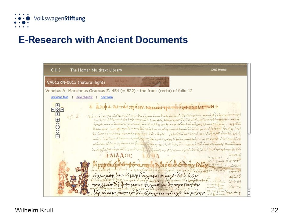 Wilhelm Krull22 E-Research with Ancient Documents