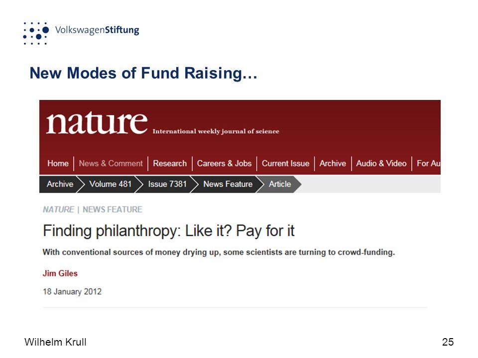 Wilhelm Krull25 New Modes of Fund Raising…
