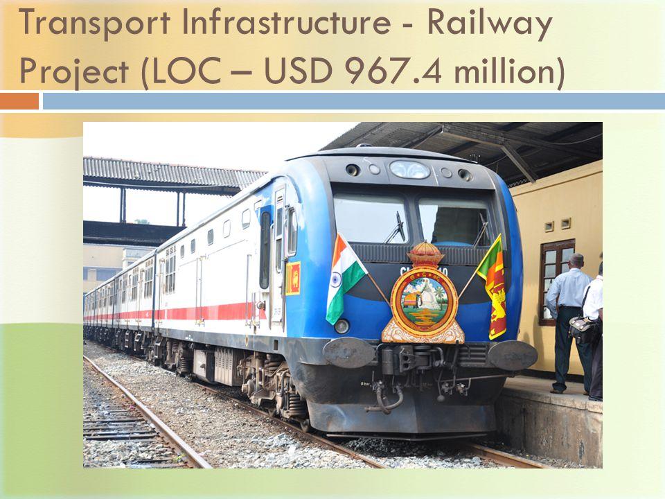 Transport Infrastructure - Railway Project (LOC – USD 967.4 million)