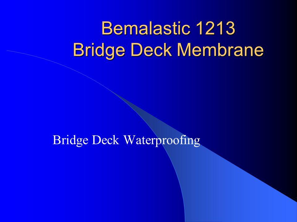 Bemalastic 1213 Bridge Deck Membrane Bridge Deck Waterproofing