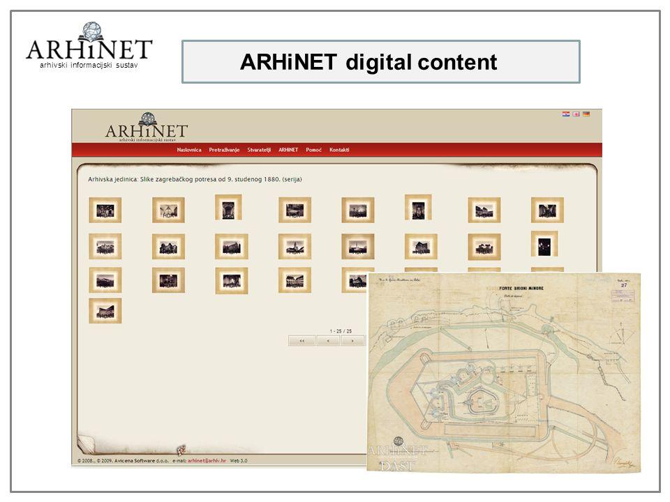 arhivski informacijski sustav ARHiNET digital content