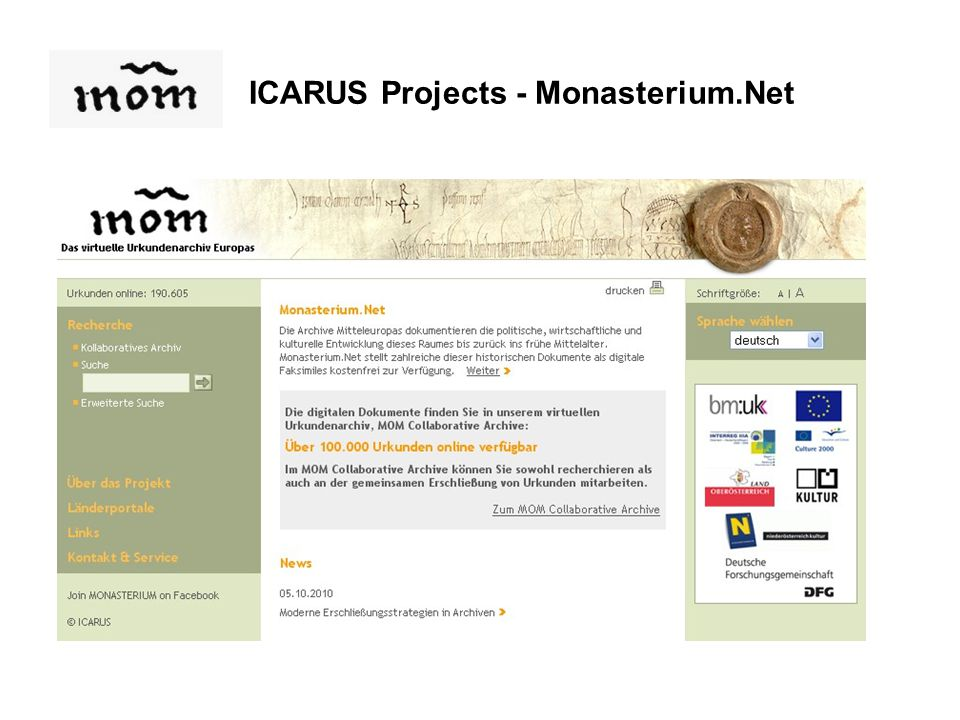 ICARUS Projects - Monasterium.Net