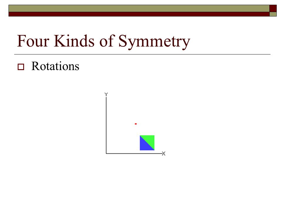 Four Kinds of Symmetry  Glide Reflections